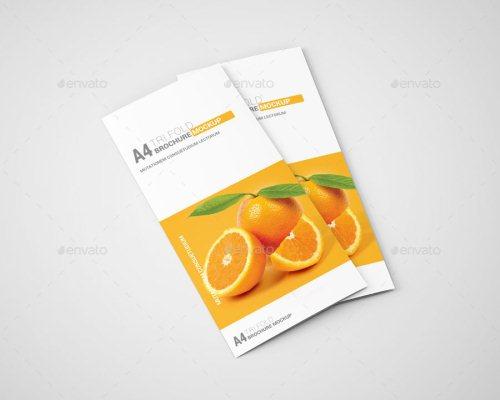 A4 Tri-Fold Brochure Mockup 01