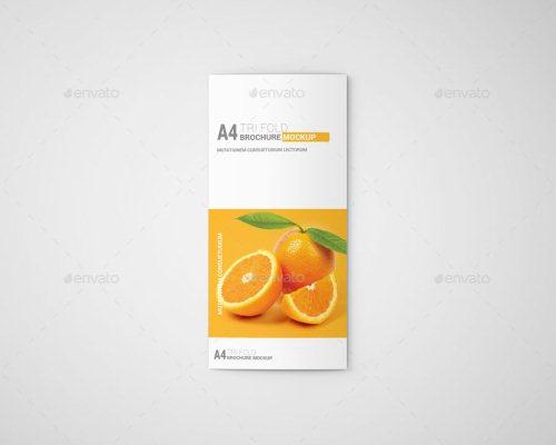 A4 Tri-Fold Brochure Mockup 02