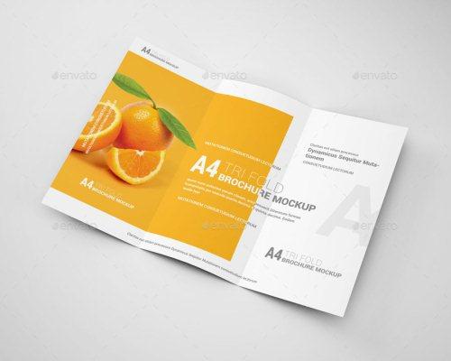 A4 Tri-Fold Brochure Mockup 03