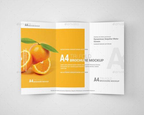 A4 Tri-Fold Brochure Mockup 04