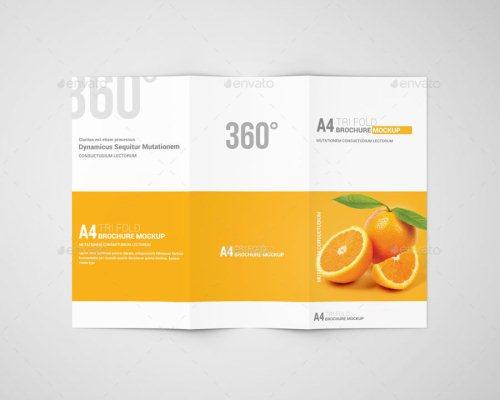 A4 Tri-Fold Brochure Mockup 06