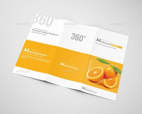 A4 Tri-Fold Brochure Mockup 07
