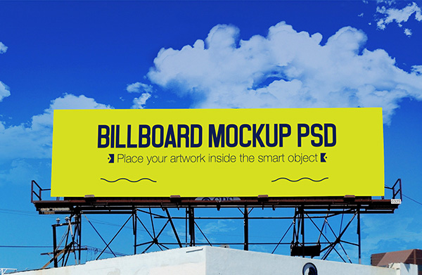 Outdoor Advertisemet Billboard Mockup PSD
