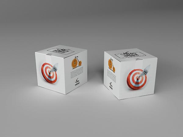 موکاپ بستهبندی دو جعبه مکعب