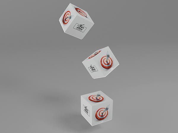 موکاپ سه جعبه مکعب