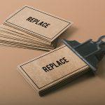 دانلود موکاپ کارت ویزیت مقوایی