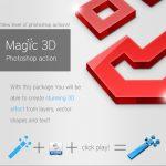 دانلود اکشن سهبعدی ساز فتوشاپ ۳d action Photoshop