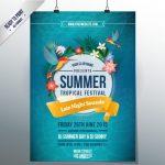 دانلود فایل لایهباز وکتور پوستر تابستانی