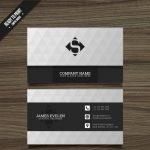 دانلود فایل وکتور کارت ویزیت سیاه و سفید