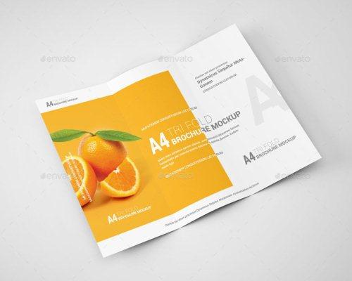 A4 Tri-Fold Brochure Mockup 05