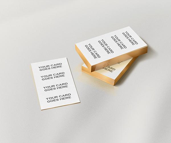 دانلود موکاپ کارت ویزیت با لبه طلایی