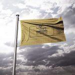 موکاپ پرچم برافراشته در باد (نمونه 1)