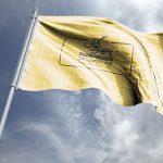موکاپ پرچم مواج در باد (طرح 3)