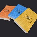 موکاپ سه کتاب در کنار هم