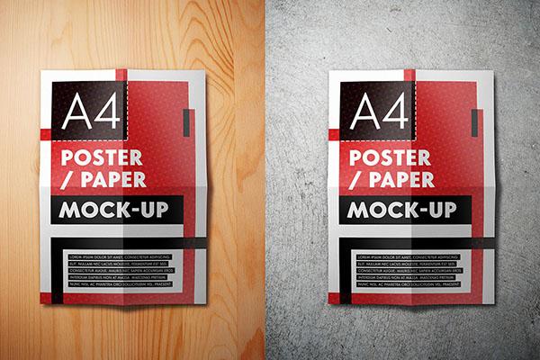 موکاپ کاغذ تاخورده