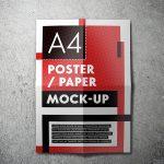 موکاپ کاغذ A4 تاخورده (سری 1)