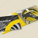 موکاپ کاور CD و DVD از نمای نزدیک
