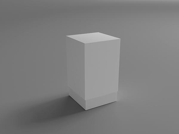 الگو کشیده شده جعبه مکعب موکاپ جعبه مکعب مستطیل کشیده (به صورت ایستاده) - چهارگوش