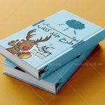 موکاپ جلد دو کتاب بر روی هم (موکاپ سررسید) 2