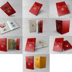 مجموعه 12 موکاپ کتاب با جلد نرم و مقوای معمولی + روکش جلد
