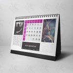 تقویم لایهباز سال ۱۳۹۷ رومیزی، ۱۲ برگ در چهار رنگ (طرح ۱۲)