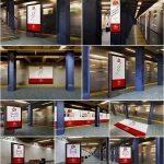 10 موکاپ تابلو و بنر تبلیغاتی در زیرگذر مترو