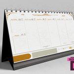 تقویم هفتگی 97 - زیرمیزی با فرمت indd ایندیزاین (طرح 60)