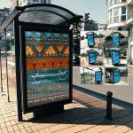 موکاپ تابلوی تبلیغاتی بدنه ایستگاه اتوبوس (6 موکاپ)