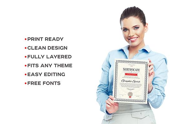 فایلهای لایهباز سرتیفیکیت و گواهینامه در دو رنگ و پنج فرمت مختلف