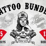 طرح لایهباز تتو Tattoo (با فرمتهای مختلف)
