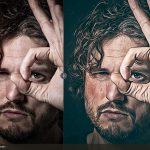 اکشن تبدیل عکس به نقاشی رنگ روغن