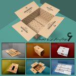 موکاپ کارتن و جعبه بستهبندی بزرگ (6 موکاپ)