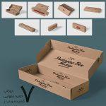 موکاپ جعبه بستهبندی مستطیل کوچک + طرح گسترده (7 موکاپ)