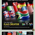 فایل لایه باز و موکاپ ایجاد پرچم موجدار در حالتهای مختلف