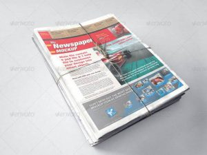 پیش نمایش و موکاپ صفحه اول روزنامه