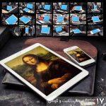 مجموعه موکاپ لپتاپ و تلبت و گوشی در پسزمینه کارگاه (17 موکاپ)
