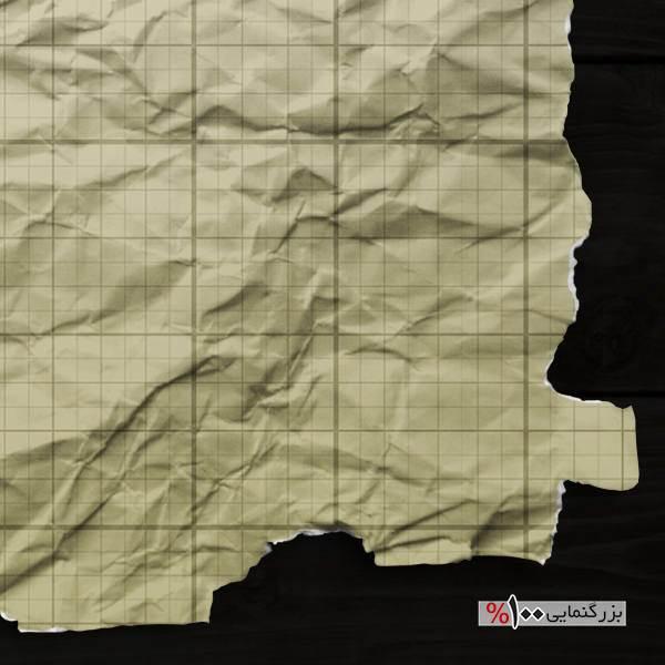 موکاپ تراکت یا کاغذ مچالهشده با گوشههای پاره