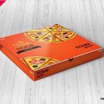 موکاپ دو جعبه پیتزا از زاویههای مختلف