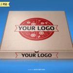 موکاپ سه بعدی جعبه پیتزا