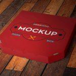 موکاپ جعبه پیتزا با لبه برش خورده