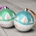 موکاپ گوی و توپ تزئینی - درخت کریسمس (6 موکاپ)
