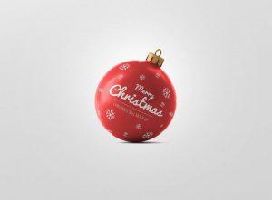 موکاپ جذاب توپ و گوی کریسمس