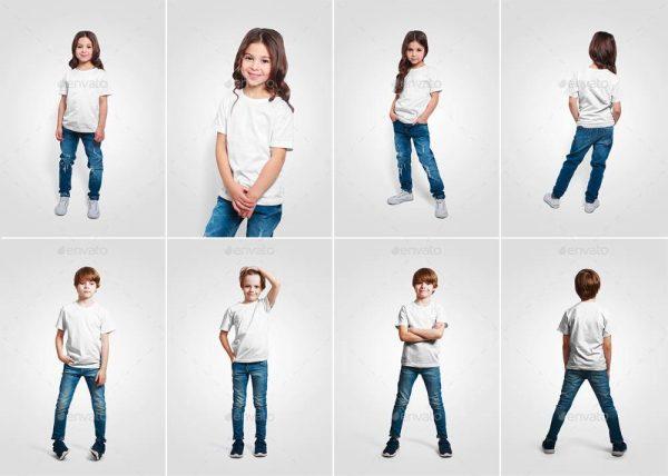 موکاپ تی شرت پسرانه و دخترانه