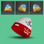 موکاپ کلاه پشمی و بافت (3 موکاپ)