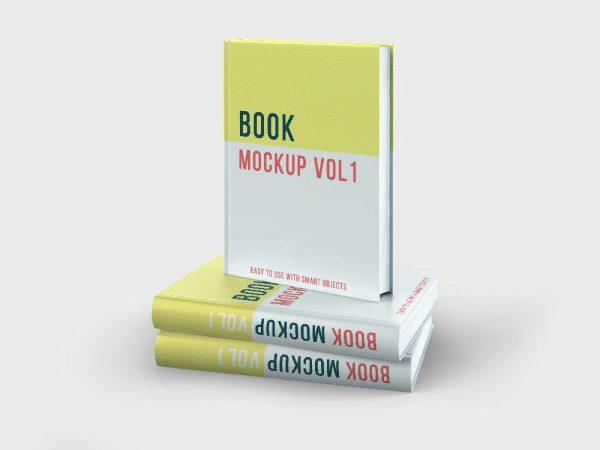 موکاپ کتاب با جلد سخت یا گالینگور