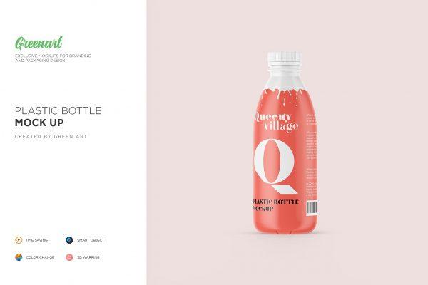 موکاپ بطری پلاستیکی