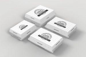 موکاپ جعبه مقوایی و بستهبندی غذا
