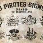 فایل لایه باز و وکتور تتو دزدان دریایی و اسکلت و جمجمه