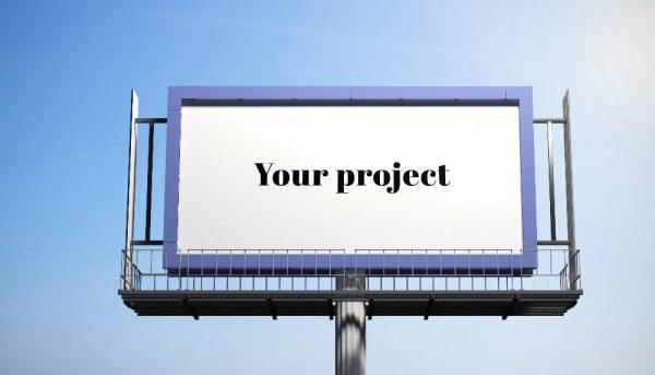 موکاپ بیلبورد و تابلوی تبلیغاتی