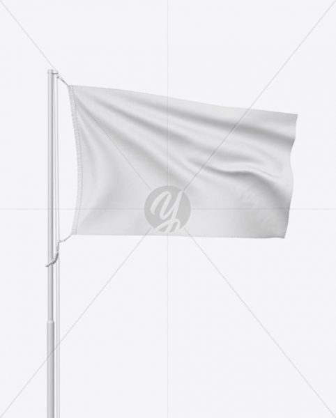 موکاپ پرچم روی میله پرچم
